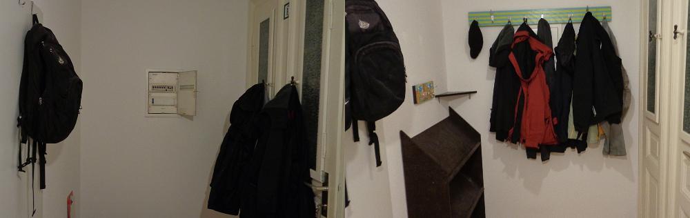 Garderobe bauen – Vorher und nachher