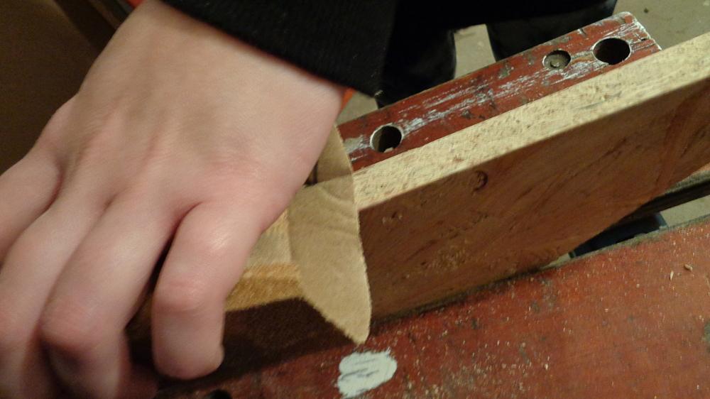 Garderobe bauen – Schleifen