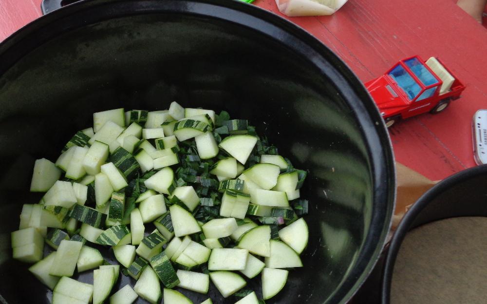 Gemüsetarte aus dem Garten – Zucchini mit Feuerwehr