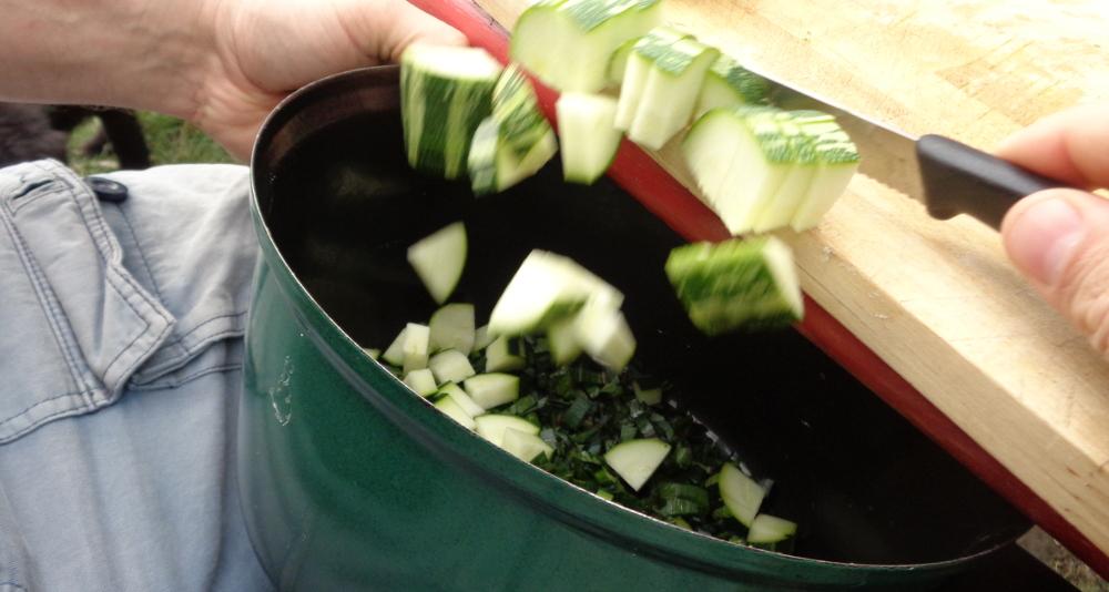 Gemüsetarte aus dem Garten – Geschnittene Zucchini