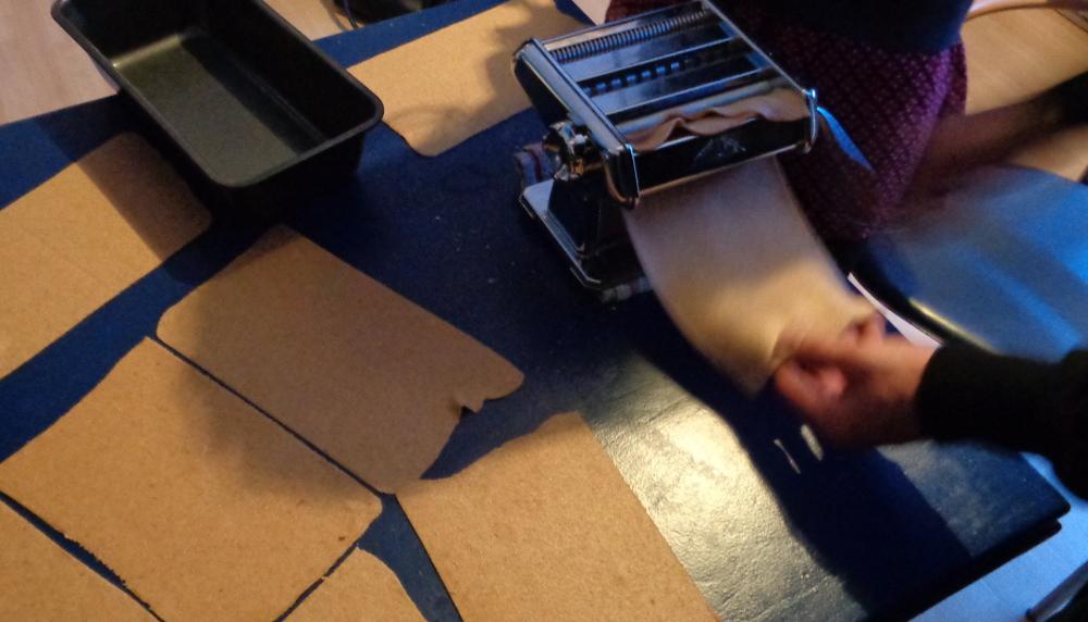 Lasagne zur Einführung in die Nudelmaschine – Work in progress