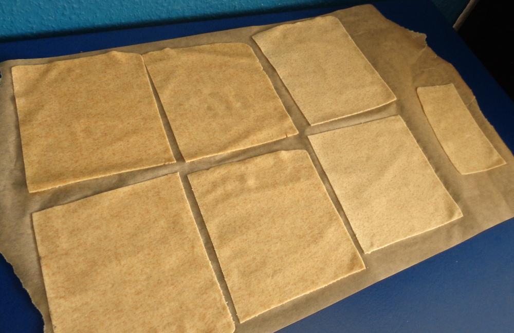 Lasagne zur Einführung in die Nudelmaschine – Fertige Teigplatten