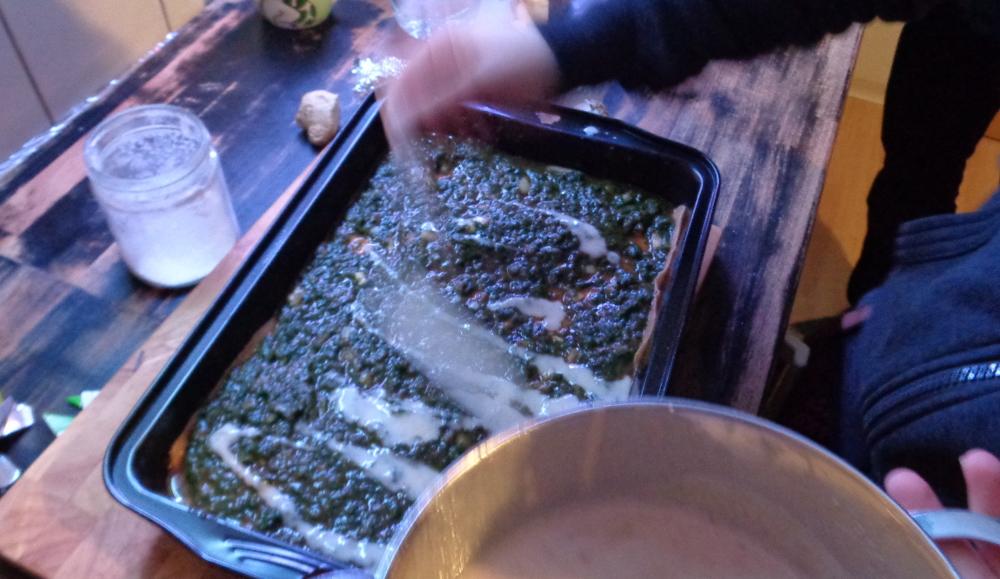 Lasagne zur Einführung in die Nudelmaschine – Lasagne fertig machen