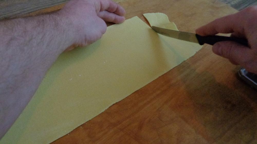 Bissfeste Nudeln mit Eiern und Hartweizengrieß – Fertige Teigplatte