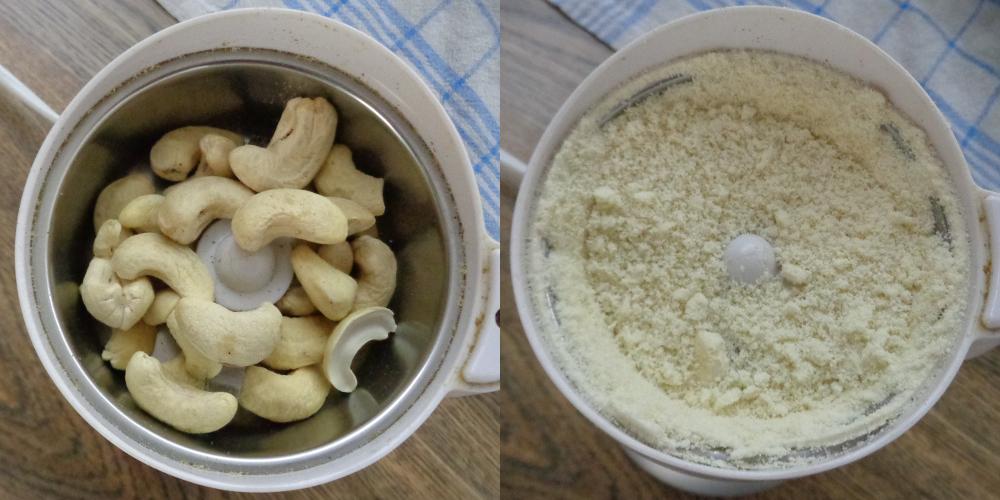 Rucolapesto – Cashews mahlen