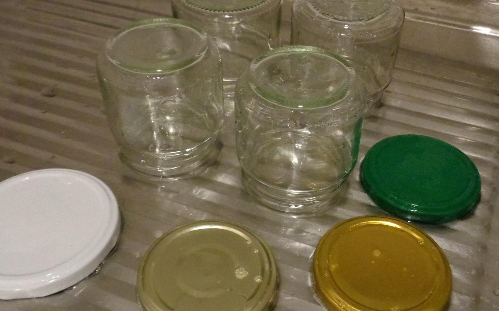 Rucolapesto – Trocknende Gläser