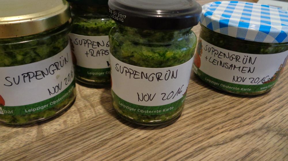 Suppengrün selbst machen - Fertige Gläschen
