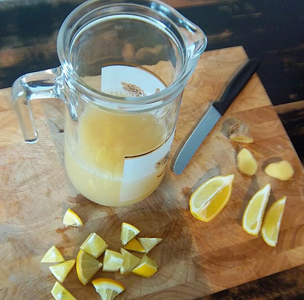 Zutaten für Apfel-Ingwer-Limo