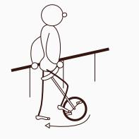 Aufsitzen aufs Einrad