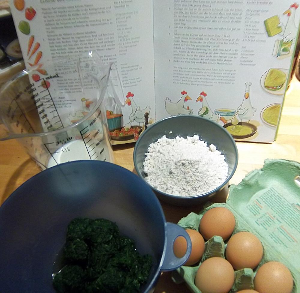 Zutaten für bunte Eierkuchen