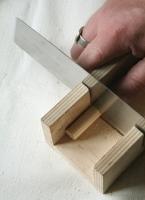 Holzdübel sägen