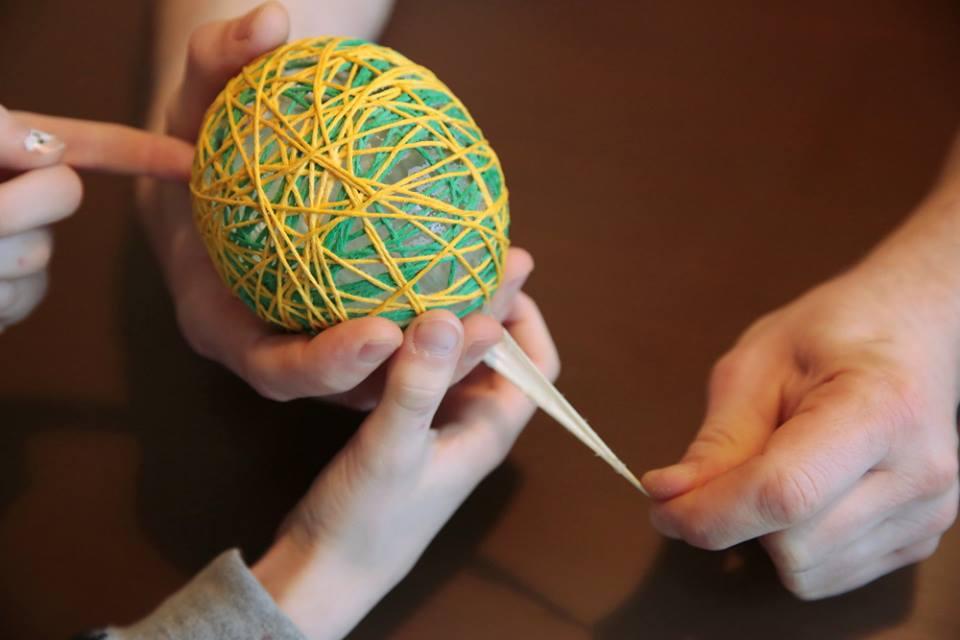 Lichterkette - Ballon herausziehen