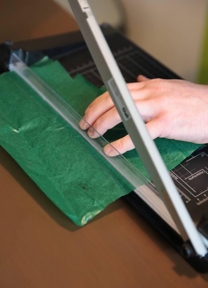 Transparentpapier zuschneiden